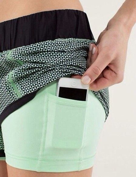 """lululemon athletica shorts"" The pocket is inside ! So cool !"