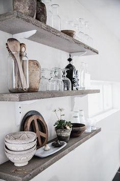 Interieur inspiratie | 10x wandplanken in de keuken - Stijlvol Styling woonblog www.stijlvolstyling.com