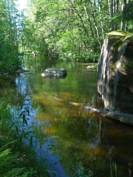 the River Kymi near the Langinkoski rapids, Kotka. Finland