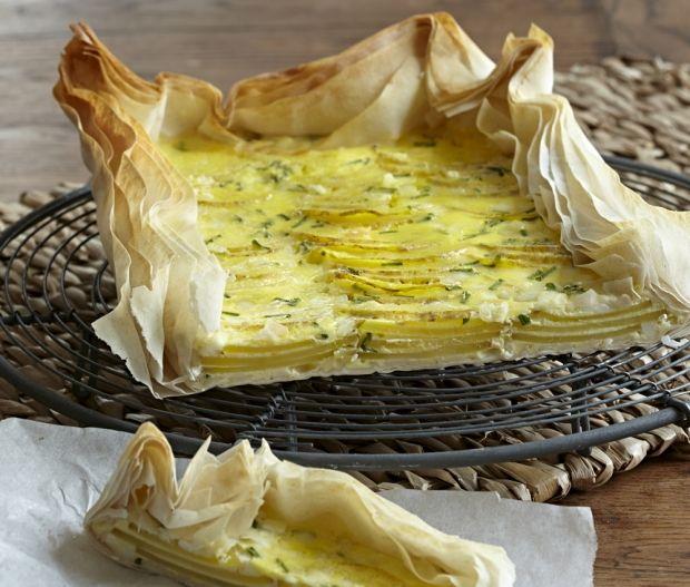 Kartoffeltærte med hytteost