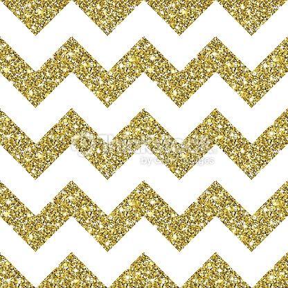 Vector Art : Gold Glitter Chevron Pattern Background