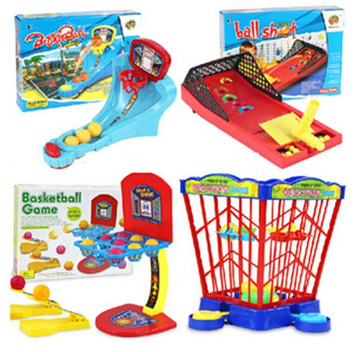 Free Shipping 4 Designs Parent-Child Family Fun Mini Basket Game  Toy Desktop Game Toy Basketball Shooting Games