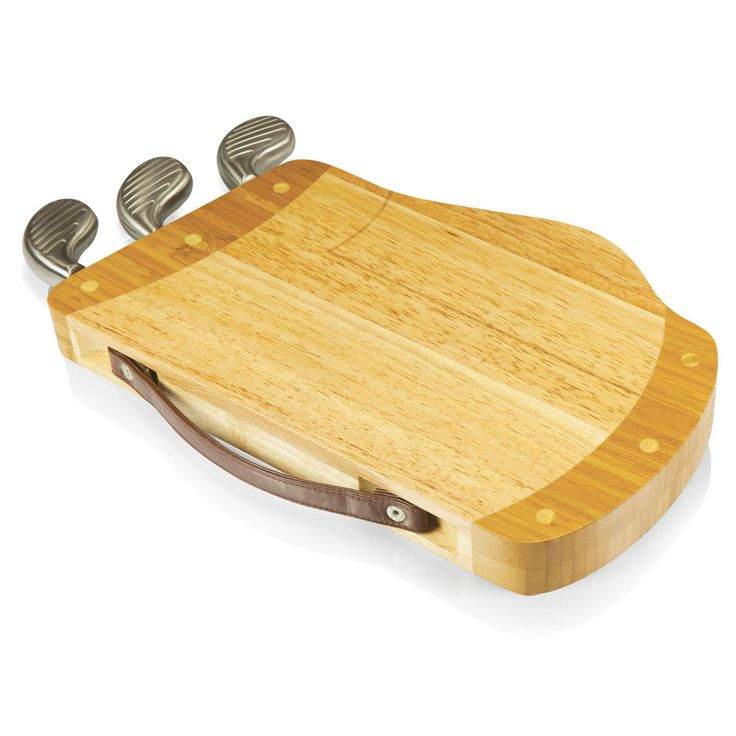 Picnic Time Caddy Cheese Cutting Board - Natural Wood - 914-00-505-000-0