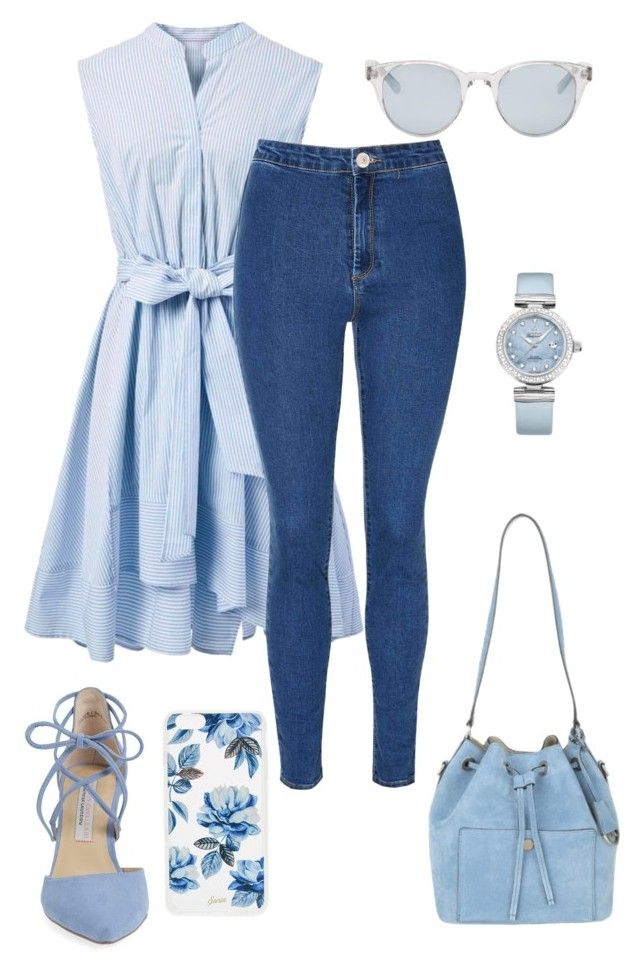 Blue Beach by citrarizkiamalia on Polyvore featuring Chicwish, Glamorous, Kristin Cavallari, Michael Kors, OMEGA, Sun Buddies and Sonix