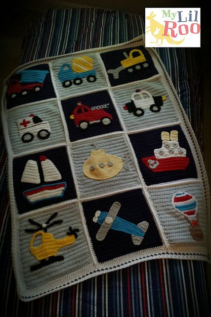 Ravelry: Knot Your Nana's Crochet Boys Will Be Boys Blanket (Without Appliques) pattern by Teri Heathcote