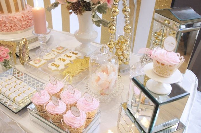 Sweet Table Details from a Pink & Gold Princess Party via Kara's Party Ideas | KarasPartyIdeas.com (27)