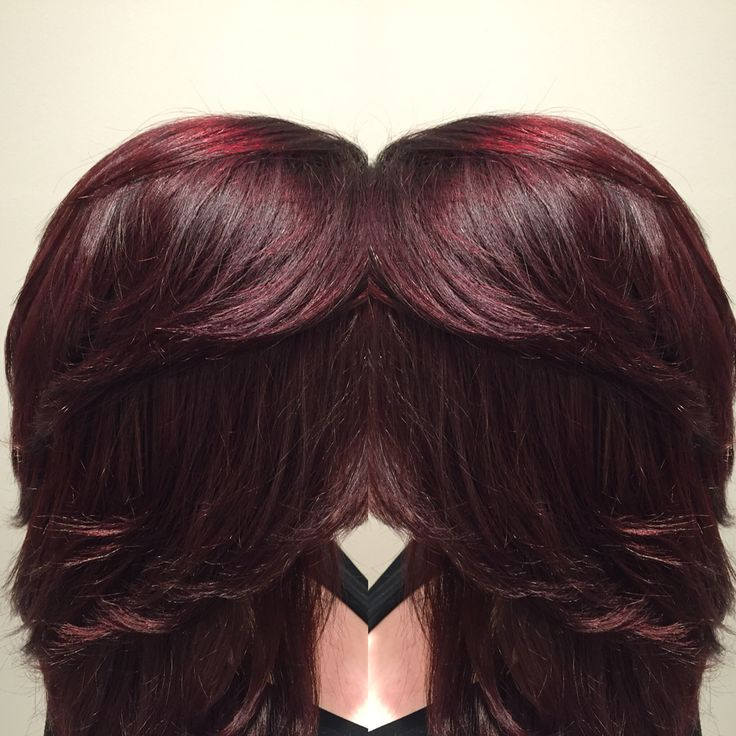Cherry Cola Hair Color By @tiajstylist
