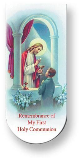 Communion Prayer Boy Magnetic Bookmark