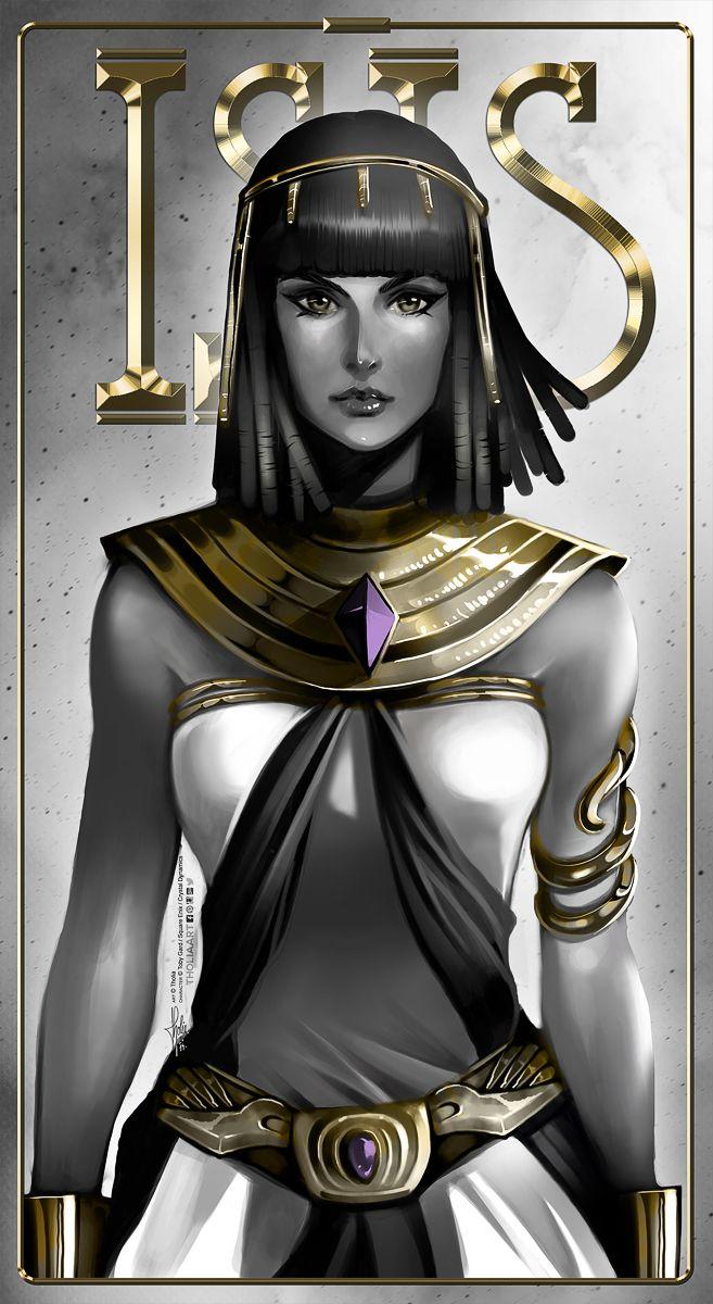 Mitología egipcia...Isis, es considerada una Divinidad y maga de enorme Poder.