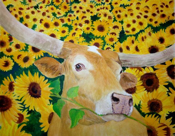 68 best Texas Longhorn Art images on Pinterest | Texas longhorns ...