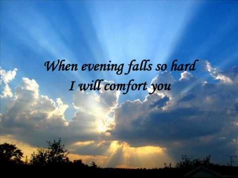 Simon & Garfunkel - Bridge over troubled water (with lyrics)