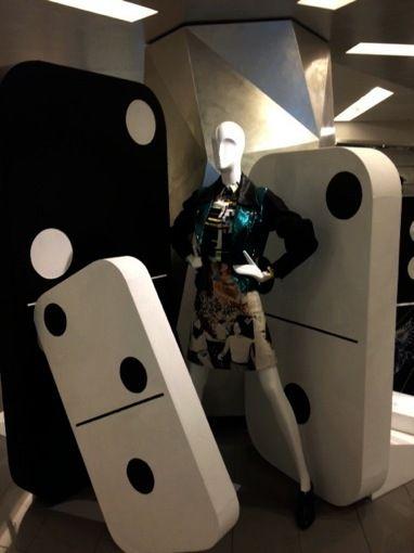 Harvey Nichols, instore displays,let's play Dominoes, pinned by Ton van der Veer