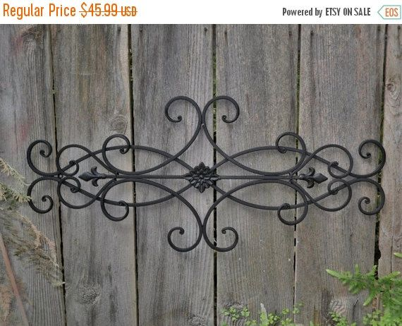 ON SALE Wrought Iron Wall Deco / Fleur de Lis / Shabby Chic Decor / Bedroom Wall Decor / Kitchen Decor / Choice Color