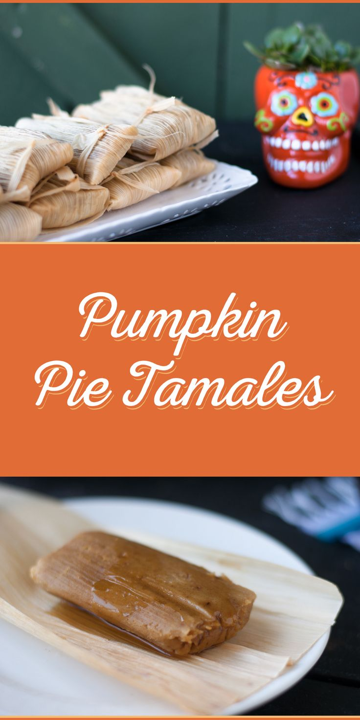 Pumpkin Pie Tamales are a sweet dessert tamal inspired by the classic American Pumpkin Pie. Perfect for Dia de Los Muertos or Thanksgiving!
