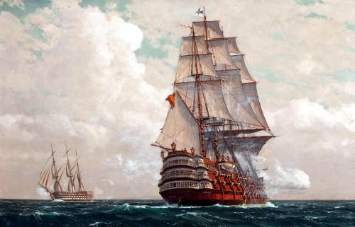 Santissima Trinidad - Flagship of the spanish armada. Sunk after the battle of Trafalgar