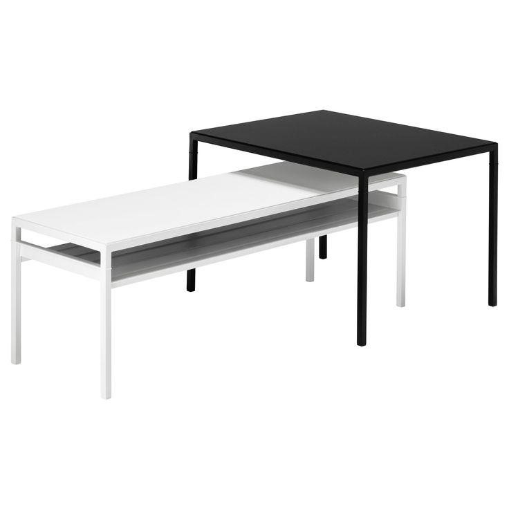 NYBODA, Satztisch/wendbare Platten, er-Set, schwarz/weiß Jetzt bestellen unter: https://moebel.ladendirekt.de/wohnzimmer/tische/satztische/?uid=0177da9e-1aa1-51f9-a562-1bbe622d3a24&utm_source=pinterest&utm_medium=pin&utm_campaign=boards #satztische #wohnzimmer #tische
