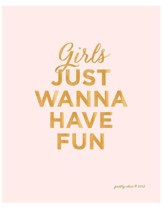 Girls+wanna+Just+Have+Fun++Art+Print++von+prettychicsf+auf+Etsy