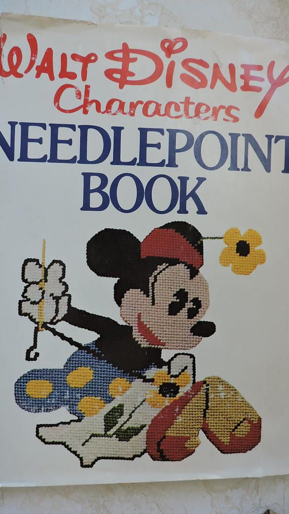 Walt Disney Characters Needlepoint Cross Stitch Design HC Book