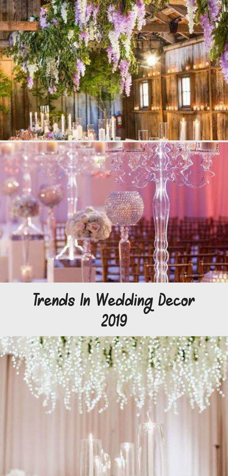 Trends In Wedding Decor 2019 in 2020 Wedding decorations
