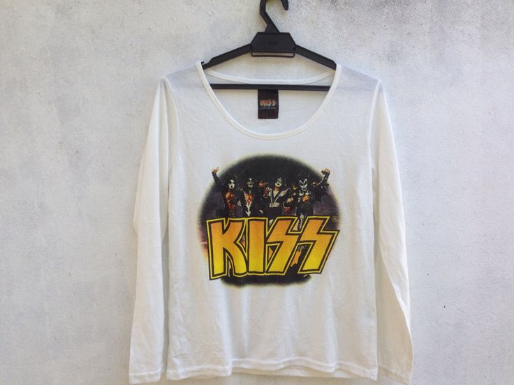 KISS tshirt band heavy metal longsleeve live nation by TwoNineVintageStore on Etsy