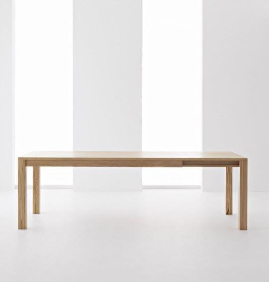 Tavolo da pranzo / moderno / in legno / allungabile - DUKE - Passoni Nature