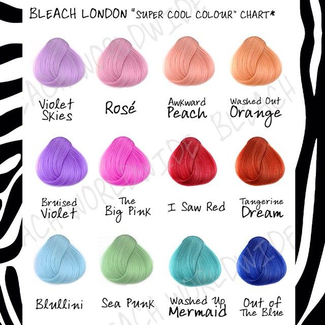 Bleach London swatches | hair | Pinterest | Bleach london, Swatch ...