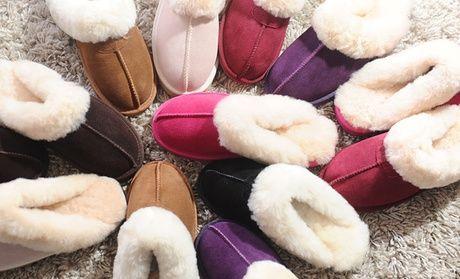 Ladies' Sheepskin Slippers