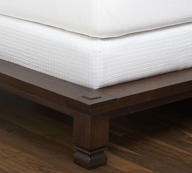 Cameron Organic Matelasse Boxspring Cover #potterybarn: Queen