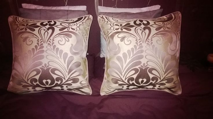 Gorgeous piped cushions in Laura Ashley fabric
