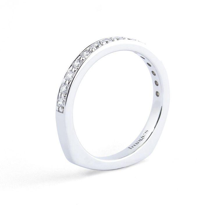 Popular Custom Diamond Wedding Band in k Palladium White Gold by Images Jewelers