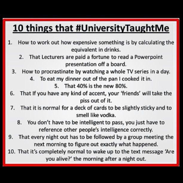 University - exciteddd!!
