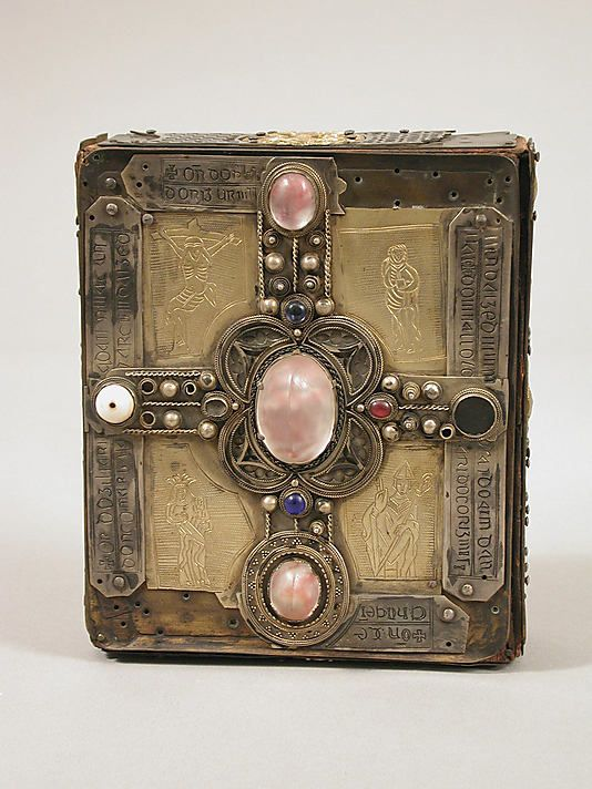 Book or Shrine, Cumdach of the Stowe Missal -A cumdach (IPA: [ˈkuṽdax]) or book shrine is an elaborate ornamented box or case used as a reliquary to enshrine books regarded as relics of the saints who had used them in Early Medieval Ireland.