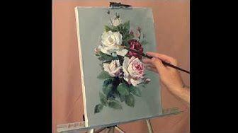Второй сеанс в масляной живописи. Технические советы. - YouTube