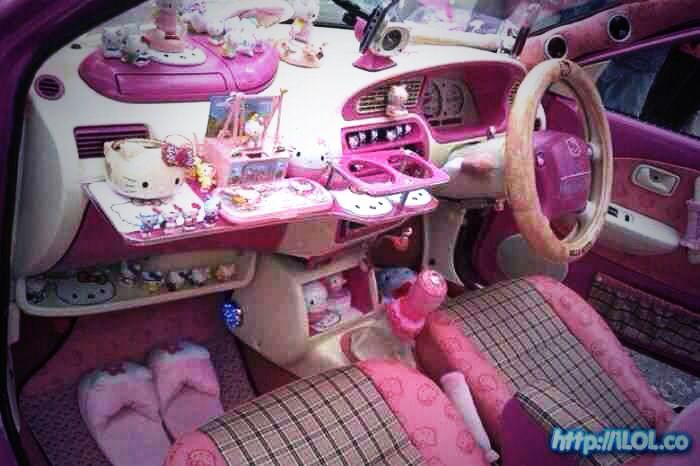 pink car interior cars pinterest pink car interior car interiors and pink cars. Black Bedroom Furniture Sets. Home Design Ideas