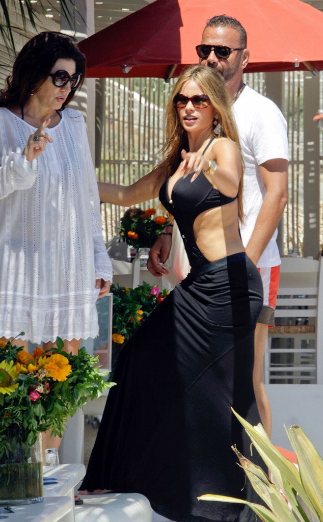Part bathing suit and part dress but all hot, Modern Family star Sofia Vergara sizzles in Greece. #style