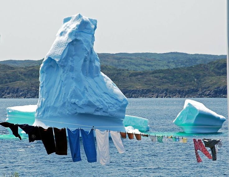 It was a grand day for a line of clothes yesterday in St. Anthony Bight, and for viewing mammoth icebergs. Our thanks to Deborah Gordon for sharing the photo!
