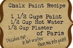 Recipe For Chalk Paint Furniture  – This Really Makes The Paint Adhere To Stained Wood Without Sanding!! - Click for More...