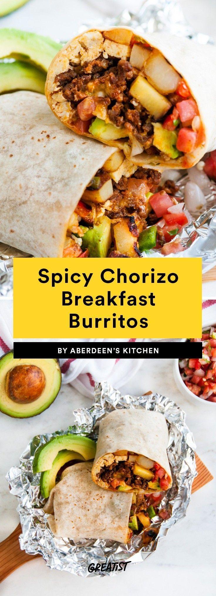 7 Fruhstucks Burritos Zum Zubereiten Einfrieren Und Aufwarmen Breakfast Breakfast Burritos Recipe Breakfast Burritos Frozen Chorizo Recipes Breakfast