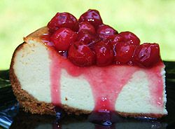 A perfect sweet for your sweetie pie: New York Cheesecake with Cherry Topping - PotsandPans.com