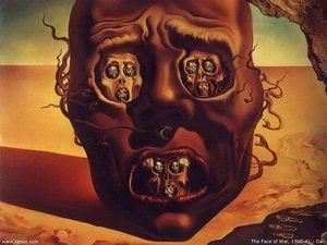 """""""The Face of War"""" (1940) Salvador Dalí"""