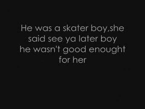 Avril Lavigne - Skater Boy lyrics. - YouTube