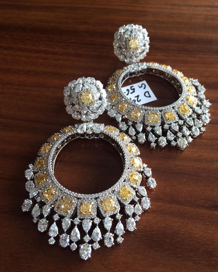 "Kamyen Jewellery ""Another yellow diamond favourite chandelier earrings"