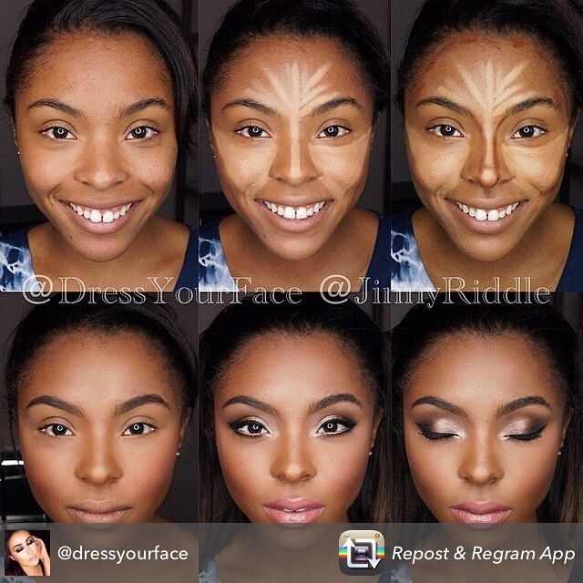 Bridal Look And Glam Face. Dramatic Contouring For High