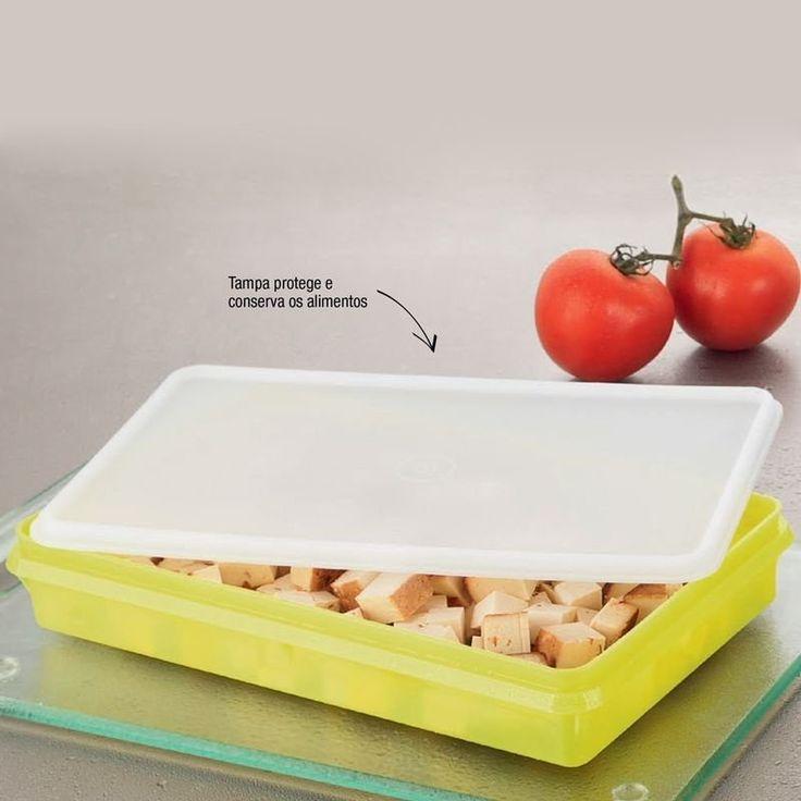 Tupperware Refri box nº 2 Amarelo 1,5 litro - Quer Comprar Tupperware Online? Loja Mundo Tupperware