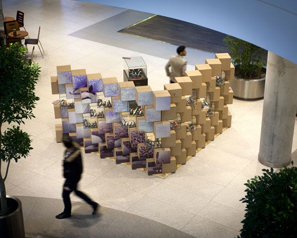 pop-up store designed by Pawel and Jerzy Wozniak of the Mode:lina studio --  Poznan, Poland