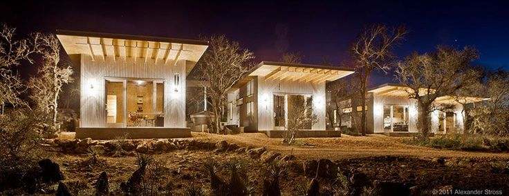 Amis, mini-ville, maison durable, Texas, Llano Exit Strategy