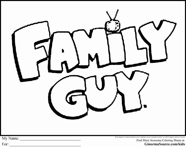 Family Guy Coloring Book Unique Family Guy Coloring Pages Logo Coloring Pages Pinterest Family Coloring Pages Drawing Books For Kids Family Coloring