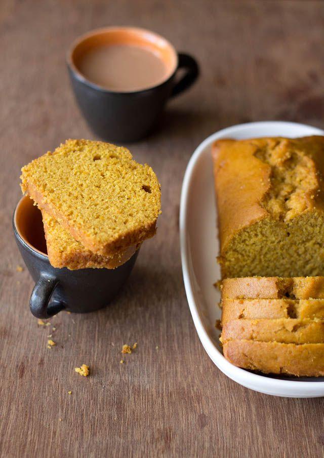vegan orange cake made from whole wheat flour, powdered jaggery and fresh orange juice