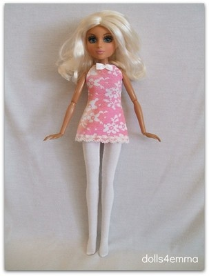 "$14.99 SUMMER FUN - Swing Dress and Leotard/Leggings for 14"" Moxie Teenz dolls. Available on eBay. By dolls4emma"