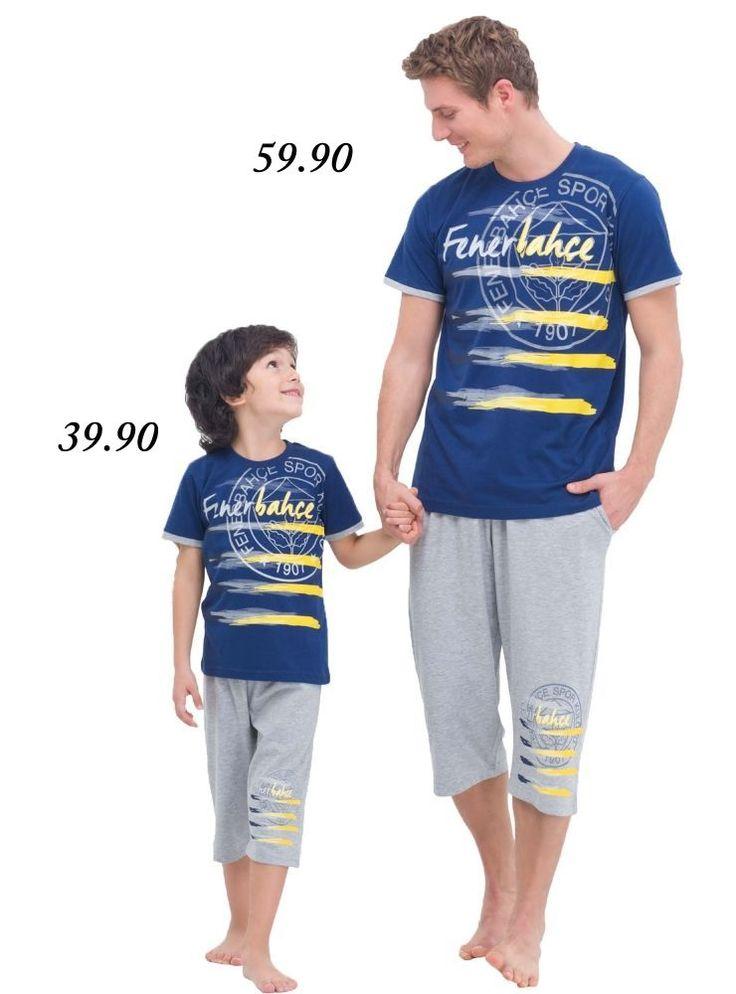 Fenerbahçe Lisanslı Baba Oğul Kapri Takımı 4430 pijama.com.tr'de #Fenerbahçe Taraftar Koleksiyonu http://www.pijama.com.tr/fenerbahce #erkekpijama #fenerbahçe #çocukpijama #pijamatakımı